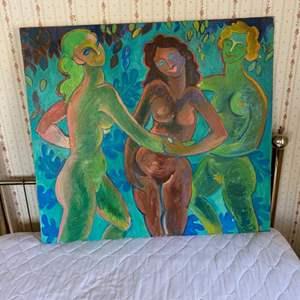 Lot # 117 - Klopfer original painting on canvas 36x40