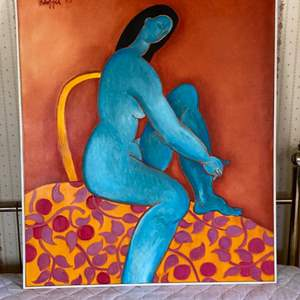 Lot # 118 -1993 Klopfer original painting on canvas 41x35 framed