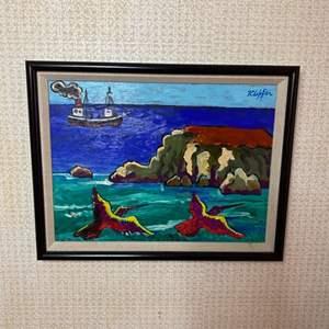 Lot # 128 - Klopfer original painting on board 18x14