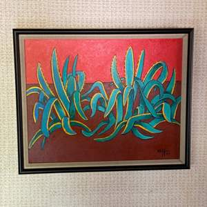 Lot # 130 - 2007 Klopfer original painting on canvas 22x18 framed