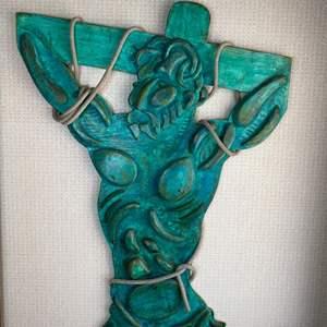 Lot # 132 - 1994 Klopfer large wood crucifixion sculpture 29w x 40t