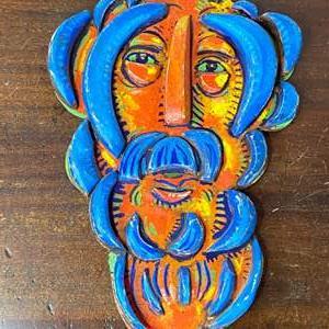 Lot # 136 - 1997 Klopfer 3-d wood carving 12x8