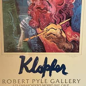 Lot # 150 - 1979 Klopfer Art Gallery Show signed, numbered and framed poster