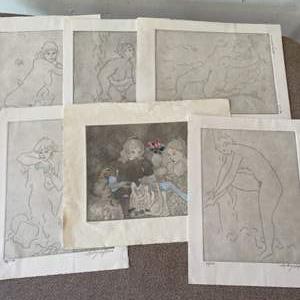 Lot # 153 - Sydney Helfman signed series of serigraphs
