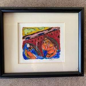 Lot # 165 - 1994 framed and signed litho-by Bissell