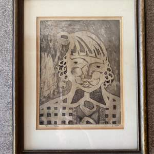 Lot # 166 - 1959 numbered lithograph signed by artist B. Innes