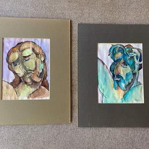 Lot # 181 - Two original Klopfer watercolors
