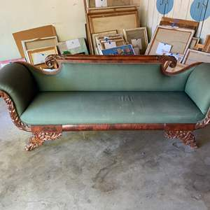 Lot # 182 - 1800's hand carved parlor couch