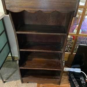 Lot # 188 - Vintage solid wood bookshelf