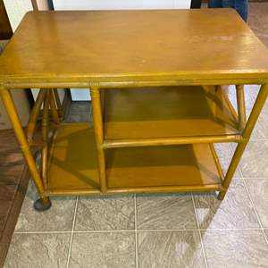 Lot # 194 - Bamboo mid century end table