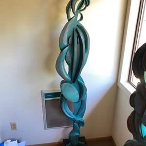 Lot # 226 - Original Klopfer 5 foot tall wooden sculpture