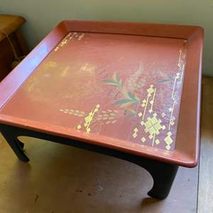 Lot # 232 - Mid century Asian lap table with Tray