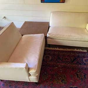 Lot # 240 - Mid century modern white couch (two-piece)