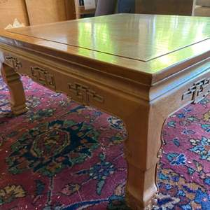 Lot # 242 - Mid century Asian square coffee table(matches 241)