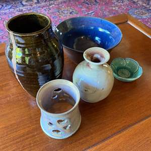 Lot # 253 - Mid Century pottery from various artists