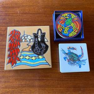 Lot # 257 - Tile trivets and coasters