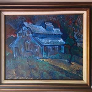 Lot # 281 - 1992 Klopfer original painting on canvas 46x61 framed