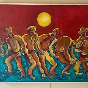 Lot # 282 - 1993 Klopfer original painting 24 x 18 framed