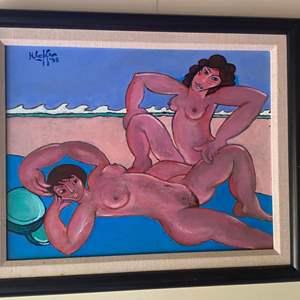 Lot # 283 - 1998 Klopfer original painting on board framed