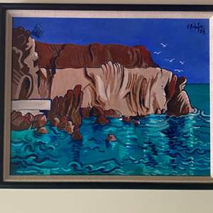 Lot # 284 - 1998 Klopfer original painting on board framed