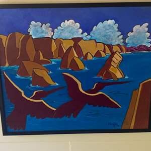 Lot # 285 - 1998 Klopfer original painting on board framed