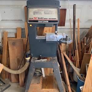 """Lot # 1 - Craftsman 12"""" belt drive bandsaw-sander"""