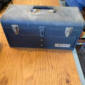 Lot # 8 - Metal toolbox with two drawers full of tools