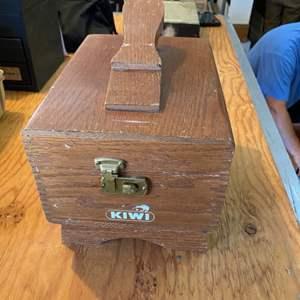 Lot # 10 - Kiwi shoe polish kit with tools