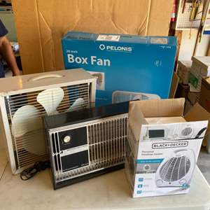 Lot # 38 - Four fans and heaters