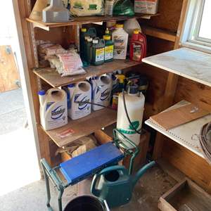 Lot # 53 - Gardening tools and chemicals
