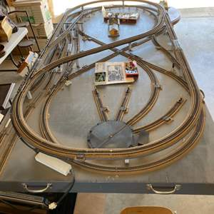 Lot # 57 - Train set up with multiple controllers, HO scale with complete drawings and schematics