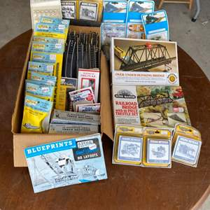 Lot # 58 - Most everything you need for a complete HO scale track set up including train whistle