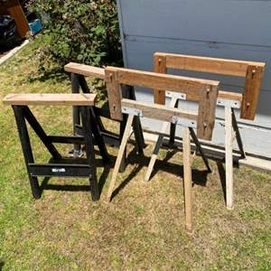 Lot # 72 - Two more pairs  of sawhorses