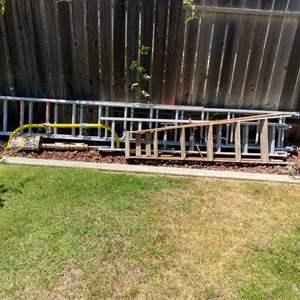 Lot # 74 - Three ladders