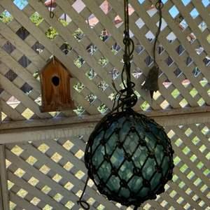Lot # 80 - Glass fishing float and yard decor