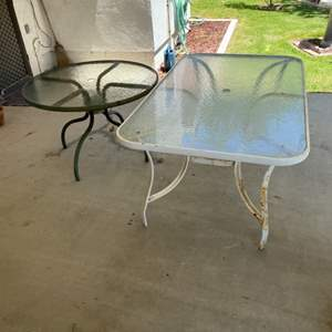 Lot # 84 - Two outdoor patio tables