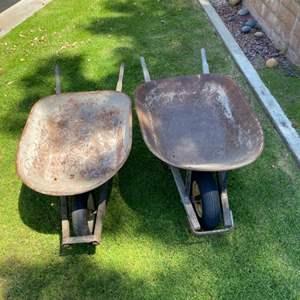 Lot # 85 - Two wheelbarrels