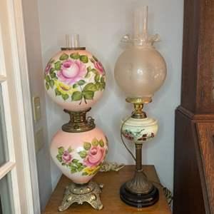 Lot # 98 - Two antique lamps