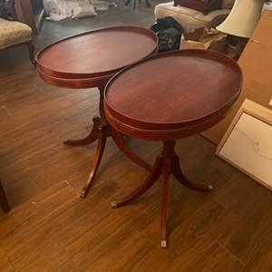Lot # 109 - Match set of mahogany end tables
