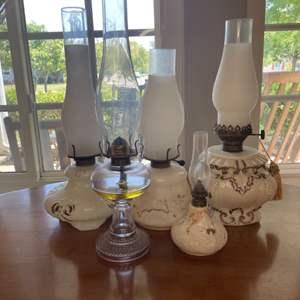 Lot # 122 - Antique hurricane lamps