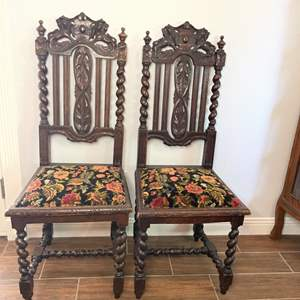 Lot # 127 - Two antique chairs