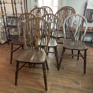 Lot # 129 - Eight chairs