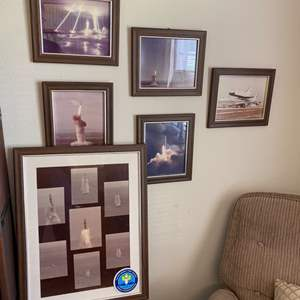 Lot # 167 - Set of vintage framed aerospace photos