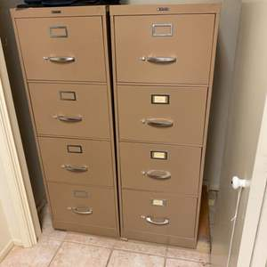 Lot # 177 - Two quality metal file cabinets