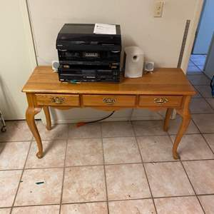 Lot # 181 - Three drawer hall table (does not include stereo)