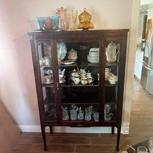 Lot # 203 - China cabinet (contents not included)