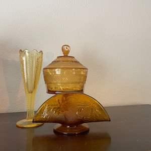 Lot # 205 - Amber glass