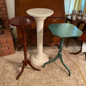 Lot # 214 - Three plant stands