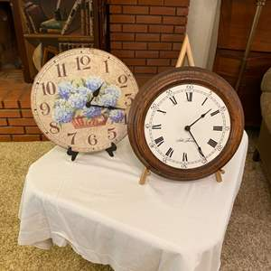 Lot # 224 - Wall clocks (not including picture stands)
