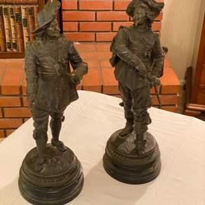 Lot # 228 - Two bronze figurines